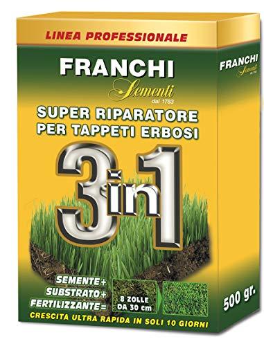 FRANCHI SEMENTI Riparatore Prato 3in1 - Risemina con Concime e Terriccio per Rapida Ricrescita