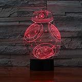 Graduación USB Lámpara de lava USB para niños con BB Robot 3D LED Decoración para niños Regalo
