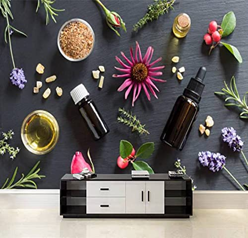 doterra at home peels QDAXZJPRLB Wallpaper Wall Sticker Selection of Essential Oils and Herbs Self Adhesive Peel and Stick Wallpaper Removable Large Wall Mural Wall Poster Decal Home Decor Living Room