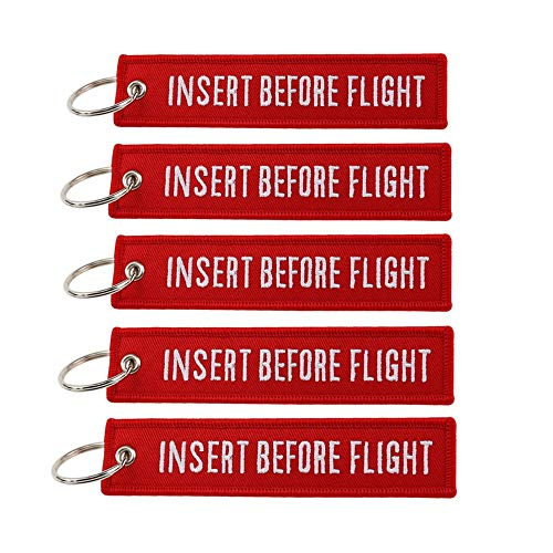 5 Pack Insert Before Flight Key Chain Cruise Luggage Tag Multipurpose Traveler Pilot Cabin Crew Baggage Tag Unisex