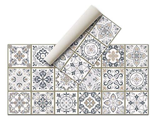 Alfombra Vinílica - (Hidráulica, 80x40 ) - Distintos diseños y tamaños - Opción personalizable - Alfombra Cocina, baño, salón comedor - Antideslizante - Alfombra dormitorio - Goma esponjosa, suelo PVC