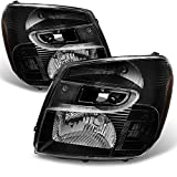 For Chevy Equinox SUV Black Headlights Headlamps Front Lamps Replacement Left + Right Pair set