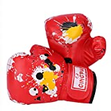 GINGPAI Boxing Gloves for Kids 3-9,Youth Boxing Gloves for Punching Bag,Kickboxing,Muay Thai,MMA (DT-red, 4oz)