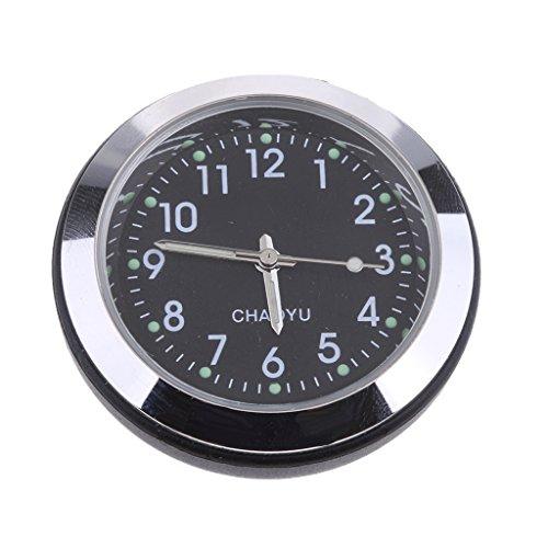 Homyl 1 Stück Auto Digital Quarzuhr Uhr Auto Armaturenbrett Dekoration Auto Styling Zubehör - schwarz
