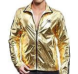 Andrew Christian Golden Boy Track Jacket 5140 - Chaqueta para hombre, color dorado dorado S