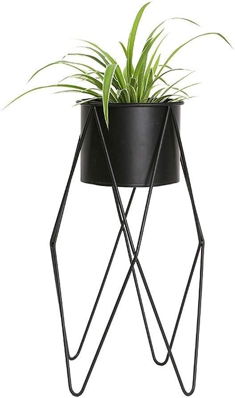 Flower Stand-Metal Floor Flower Pot Display Stand, Living Room Balcony Multi-Function Rack, Plant Storage Rack (Size   32  55cm)