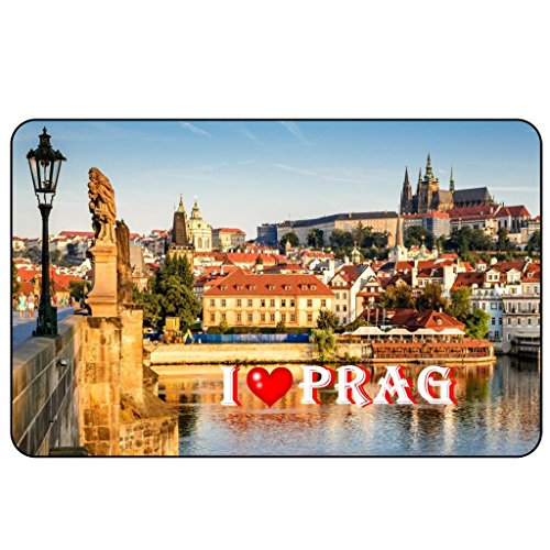 Cadora Magnetschild Kühlschrankmagnet I Love Prag II