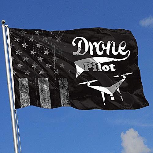 Elaine-Shop vlaggen voor buiten, Usurate, VS-vlag, drone pilotenbestuurder, 4 x 6 ft vaandel voor thuisdecoratie, sportfan, voetbal, basketbal, baseball hockey