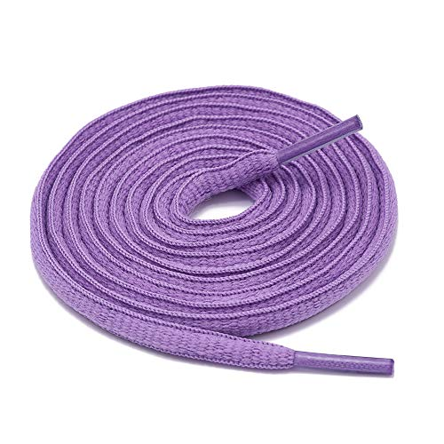 ZOOEASS Oval Sneaker Shoe Lace,Half Round 1/4' Shoelace in 37Colors(Oval Lavender,47.2''(120cm))