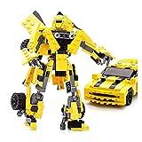 JIALI Personaje Modelo Building Blocks Toys Niños Transformación Robot Coche Juguete Educativo como Regalo para niños y niñas (Color: Abejorro)