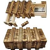 Caja de recuerdo Caja de regalo mágica Caja de madera mágica Cofre del tesoro mágico Caja de regalo de madera Caja de regalo de memoria Caja regalo personalizada Para regalo joyas dinero 2 piezas