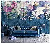 Apoart 3D Papier Peint Mur De Fond Minimaliste Vintage Abstrait Fleur Rose Chambre À Coucher 200Cmx140Cm