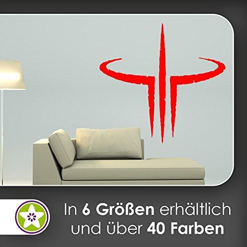 KIWISTAR Quake III Arena Logo Symbol Wandtattoo in 6 Größen - Wandaufkleber Wall Sticker