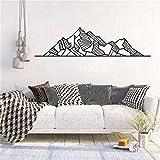 wZUN Diseño geométrico montaña Natural Pegatinas de Pared Dormitorio Aventura decoración Mural 198X57cm