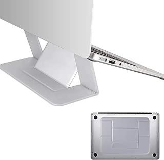 超薄いマグネット式の折り畳むことができるノートパソコン用スタンド グレー(グレー)