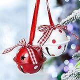 Naler 12 Campanas de Navidad Decoración Cascabeles de Colores para Boda Fiesta Cumpleaño...