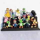 New Brand 18pcs / Set Super Mario Bros Figura de acción tamaño 3-7 Luigi Mario Pendula Yoshi Donkey Kong Mejor Regalo para niños Super Mario Cute Figure
