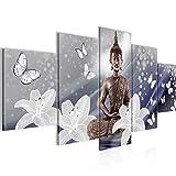 Decoración de la mesa de Buda Mural - 200 x 100 cm Vista de impresión en lienzo...
