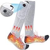 Calcetines Calefactables,Calcetines Térmicos 3 Niveles Ajuste Temperatura,Calcetínes Termico con Interruptor,Calentadores de Pies para Ciclismo Acampar Senderismo Deportes(2020 nueva edición)