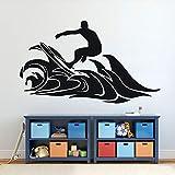wZUN Etiqueta de la Pared de la Tabla de Surf Surfing Wave Vinilo Pared Pegatina Surf Deportes decoración de la Pared decoración del Dormitorio Pegatina 68X40cm