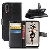 CoverKingz Handyhülle für Huawei P20 - Handytasche mit Kartenfach P20 Cover - Handy Hülle klappbar Schwarz