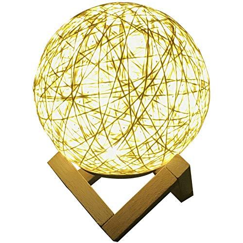 Sepak Takraw - Luz de noche LED, regalo creativo estrellado, lámpara de mesa nórdica USB, puesto de decoración de cabecera de dormitorio, para niños, dormitorio, sala de estar, regalo de cumpleaños