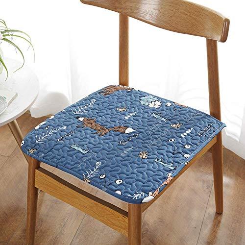 XHNXHN 1 cojín para sillas de comedor, para sillas de cocina, no deslizables, para invierno y verano, para oficina, cojín de computadora, color azul, 50 x 50 cm