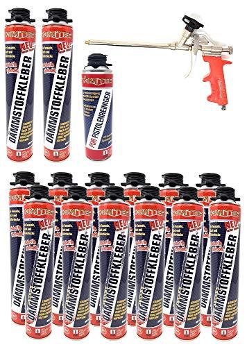 Toolzy 101884 - Lote de 50 adhesivos aislantes (800 ml, espuma de aislamiento EPS XPS)