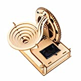 3D Wooden Puzzle Adult Solar Power Marble Run Model DIY Assembled Craft Kit Mechanical Gear Building Engineering Educational Toy Set Christmas Birthday Gift for Husband,Boyfriend,Teen Boys Home Decor