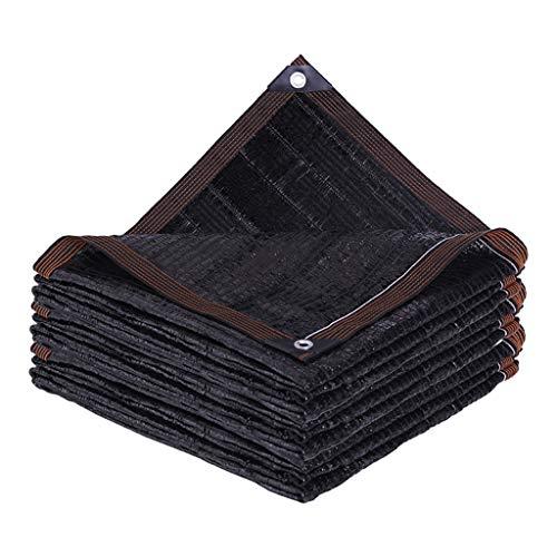 YTQ 95% negro borde de tela con ojales resistente al jardín, para plantas, invernadero, piscina, fácil de instalar (tamaño: 1 m x 3 m)