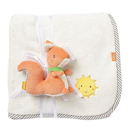 Fehn 061185 Couverture douillette en forme d'écureuil pour bébé et enfant à partir de 0+ mois, tapis d'éveil ou doudou ou doudou Multicolore
