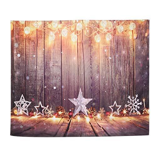 Tapiz de ropa de cama para colgar en la pared, tapete para picnic con cortina de ventana, alfombra para colgar en la pared alfombra para sala de estar dormitorio dormitorio decoración de Navidad para
