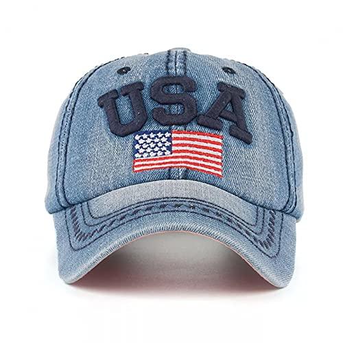 Gorra béisbol Gorra de béisbol con letras bordadas para hombre gorra de béisbol con letras bordadas bordado de bandera americana sombrero de vaquero de sol Retro sombreros de hip hop para parejas