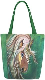 Tote Bag Shoulder Canvas Horse Bag, Purse, Equestrian Bag Gift, Shoulder Bag for Women Girls