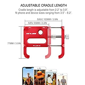 Lixada GUB Bicicleta Teléfono Titular 360 Grado Giratorio Longitud Ajustable de Aluminio Manillar de Bicicleta de Montaje