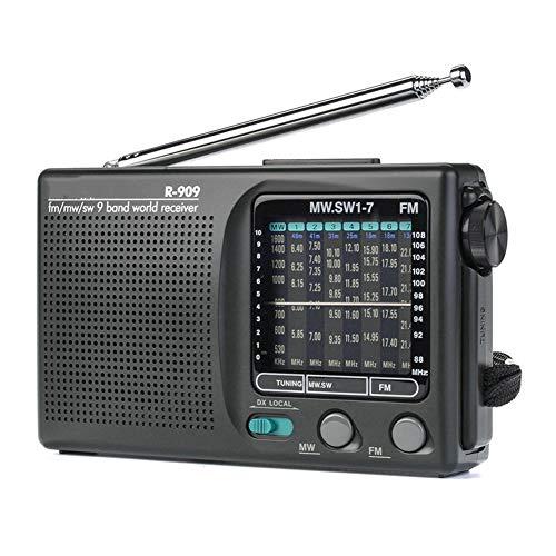 GDS Radio, FM/MW/SW 9-Receptor Banda de Palabras portátil estéreo Radio Tecsun Radio práctico Radio, Semiconductor Retro