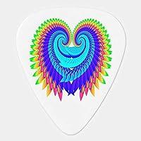【ショップ西川】羽をつけられたハート ギターピッ ギターピック エレキギター用 ピック トライアングル オシャレ ベース カポタスト ギター カポ アコースティックギター ウクレレ 6枚セット 0.46MM