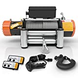 ORCISH 12V 13000-lb Load Capacity Electric Truck Winch Kit Steel Cable, Waterproof Off Road Winch for Jeep,Truck,SUV