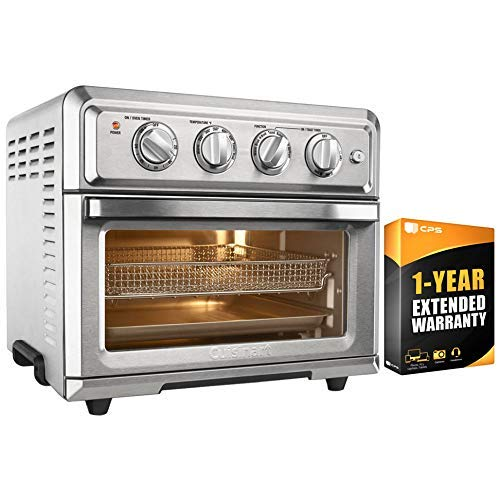 Cuisinart TOA-60 Convection Toaster Oven Air Fryer with Light, Silver w/ 1 Year Extended Warranty