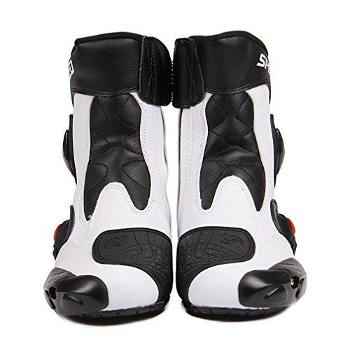 Botas de motocicleta LKN, con protección de tobillo, para carreras, rojas