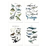 JUNIQE® Poster-Set - Tier-Charts - Poster & Prints für