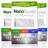 Nano Towels Stainless Steel Cleaner   The Amazing Chemical Free Stainless Steel Cleaning Reusable Wipe Cloth   Kid & Pet Safe   7x16' (1 pc)