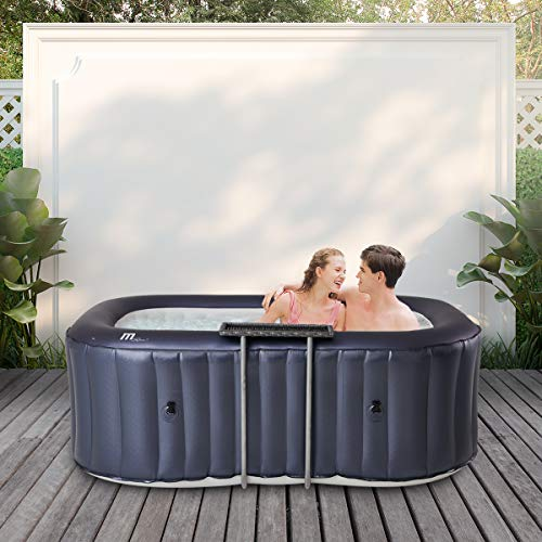 Miweba Mspa Aufblasbarer Whirlpool Outdoor Delight Nest D-Ne02 - Oval - 104 Massagedüsen - Für 2 Personen - Tüv Gs Geprüft - Pool Aufblasbar