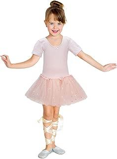 Jane Shine Girls Skirted Leotard, Glitter Dance Tutu Skirted Dress, Short Sleeve Ballet Dancewear for Babies & Girls