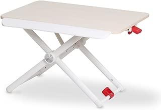 Salcar スタンディングデスク 上下昇降デスク リフトアップデスク 昇降テーブル 60*36 ガス式 5段階高さ調節 立ち座り両用 パソコン/タブレットスタンド オフィスワークテーブル 一人暮らしナチュラル