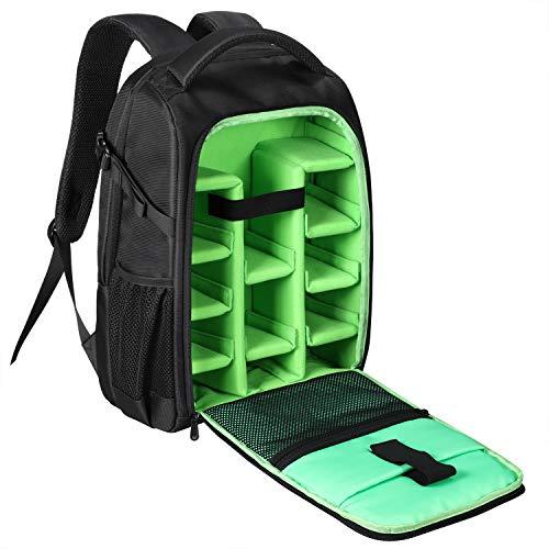 BERTASCHE Kamerarucksack DSLR / SLR Rucksack 15.6 Zoll Laptop Kameratasche für Canon Nikon Sony mit Regenhülle