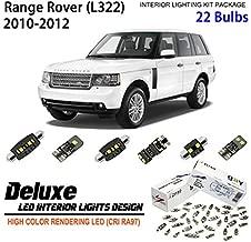 ZPL4322- (22 Bulbs) Deluxe LED Interior Light Kit 6000K Xenon White Dome Light Bulbs Replacement for Land Rover Range Rover (L322 , 2010-2012)