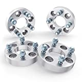 StanceMagic - 1 inch (25mm) Wheel Adapters (Changes Bolt Pattern) Converts 4x114.3 to 4x100-12x1.5 Studs - Compatible with Older Hyundai Acura Honda Toyota (4x4.5 to 4x100, Silver Spacers) 4pcs