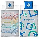 Juego de ropa de cama reversible con diseño de Playstation | 135 x 200 cm + 80...
