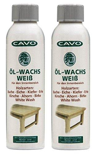 CAVO Öl-Wachs Weiss 2er-Pack (=2x250ml)